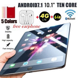 New WiFi Tablet PC 10.1 Inch Ten Core 4G Network Android 7.1 Arge 2560*1600 IPS Screen Dual SIM Dual Camera Rear