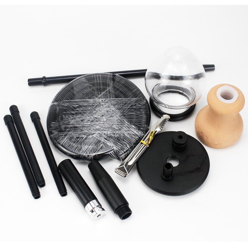 Tripod Design Hookah Shisha Set Package Includes Hookah Base Silicone Hose Metal Charcoal Tongs Ceramic Hookah Bowl