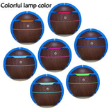 New USB Wood Grain Humidifier LED Light Ultrasonic Aromatherapy Oil Diffuser Air Purifier 7 colors changeable