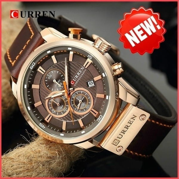 Men Curren Luxury Business Leather Strap Quartz Watches Men Casual Waterproof Sport Watch Fashion Clock Relogio Masculino Reloj Hombre Montre Homme Uhr Gifts
