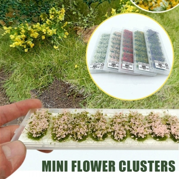 1 Box Mini Flower Clusters Ciniature Military Model Train Sand Table Diy Scenery