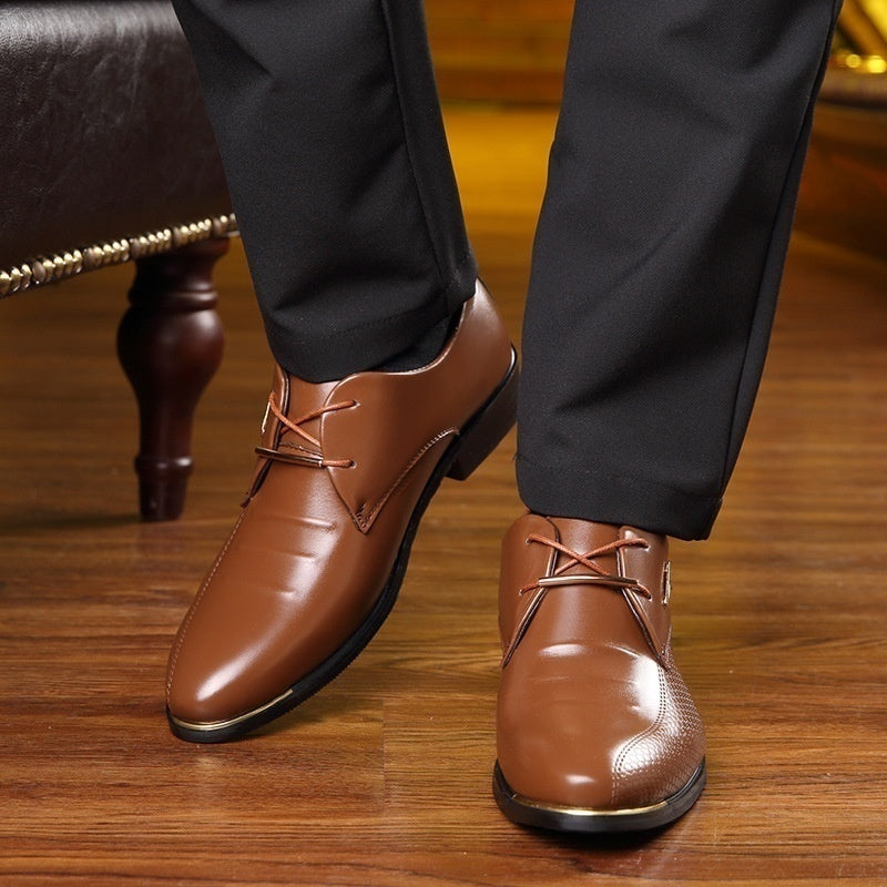 Men's Leather Lined Business Dress Oxfords Shoes 38-48