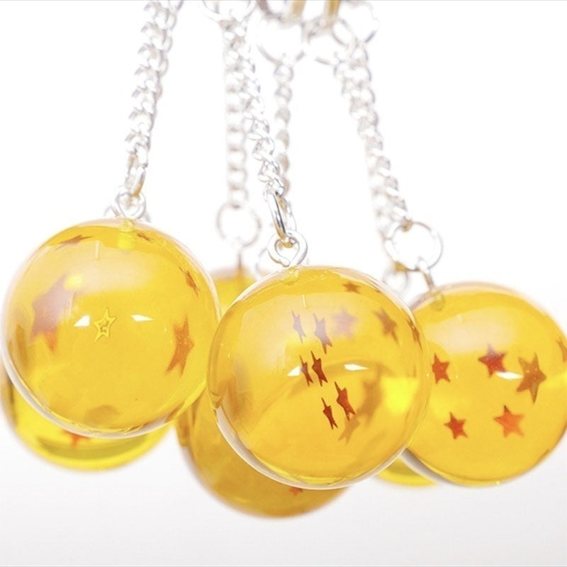 3D 1-7 Stars Cosplay Crystal Ball Key Chain Collection Toy Gift Key Ring Anime Dragon Ball Z Super Keychain