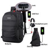 Classic Backpack/Chest Bags with USB Charging Port