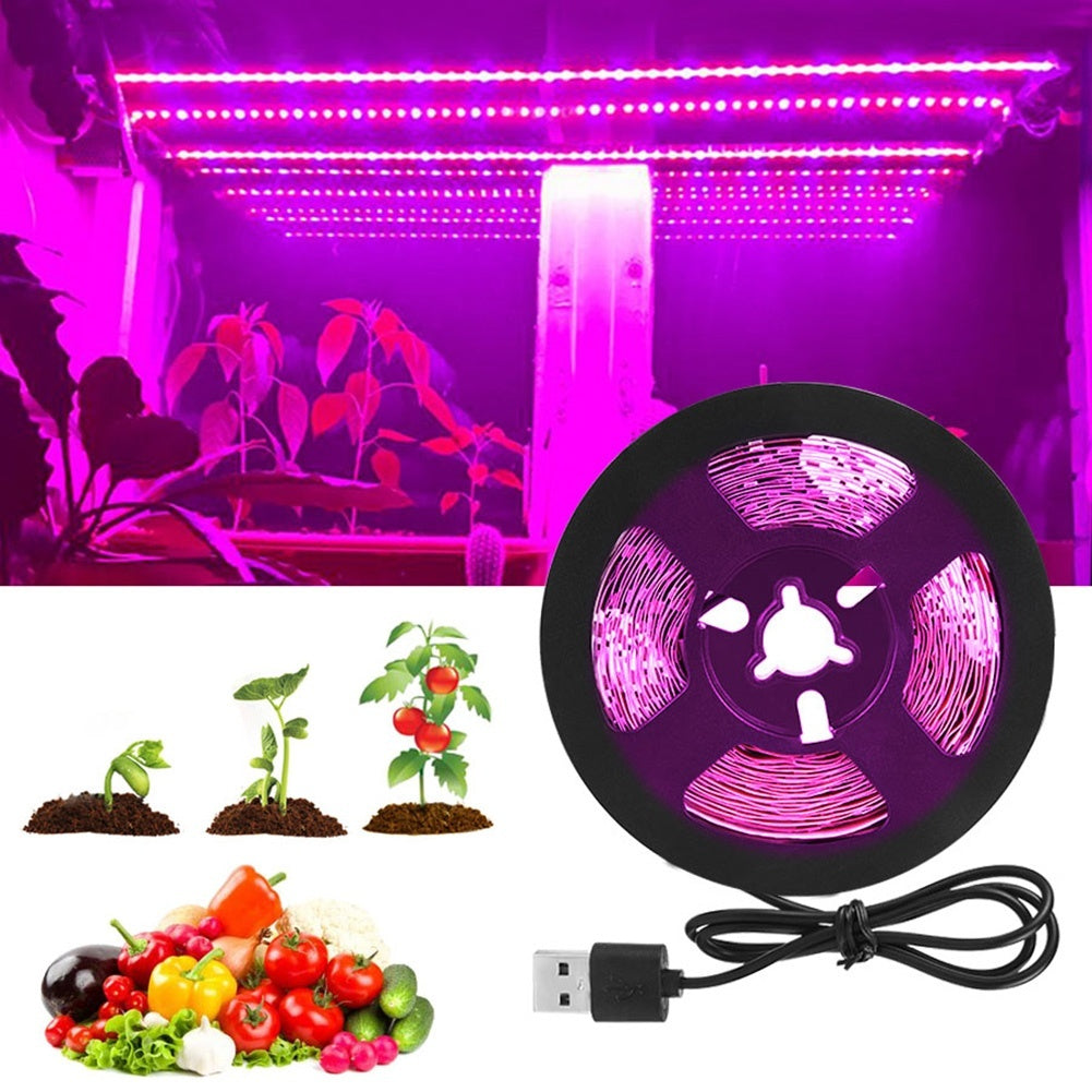 LED Grow Light Strip Full Spectrum Waterproof Grow Light 60 LEDs/meter for Indoor Plants