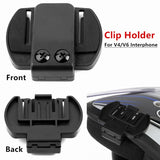 Motorcycle Accessories V4/V6 BT Bluetooth Motorbike Helmet Intercom Headset Bracket Clip Holder zX