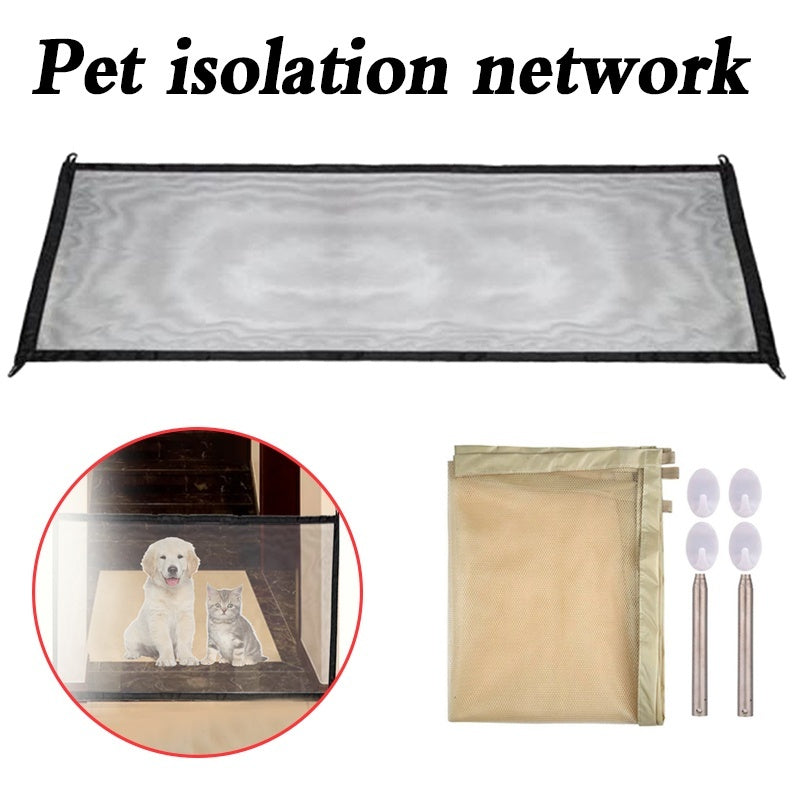 Dog Gate The Ingenious Mesh Magic Pet Gate For Dogs Safe Guard and Install Pet Dog Safety Enclosure Dog Fences