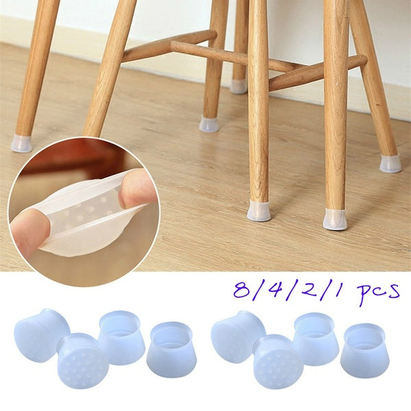 8/4/2/1 pcs Silicon Furniture Leg Protection Cover Table Feet Pad Floor Protector