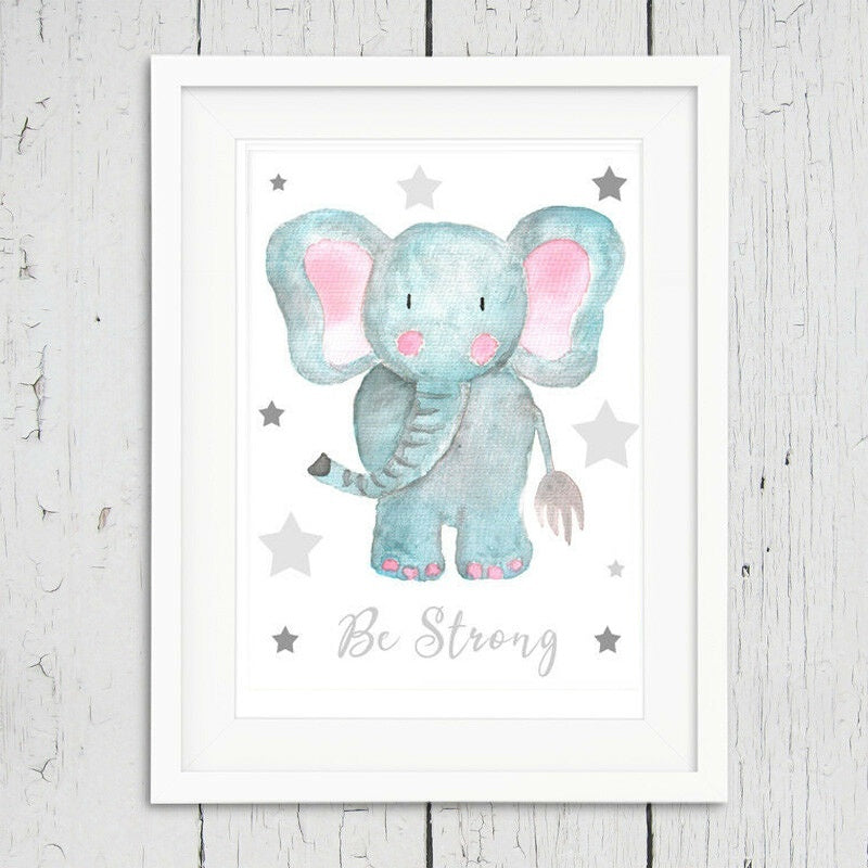 Modern Print Cute Animals Poster Inspirational Quotes  Room Wall Art  Nursery Decor Canvas Art Painting Picture Photo Kids RoomCanvas Painting  Without Frames