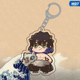 13 Styles Cute Demon Slayer: Kimetsu No Yaiba Acrylic Keychain Anime Keyring Decoration Anime Gifts