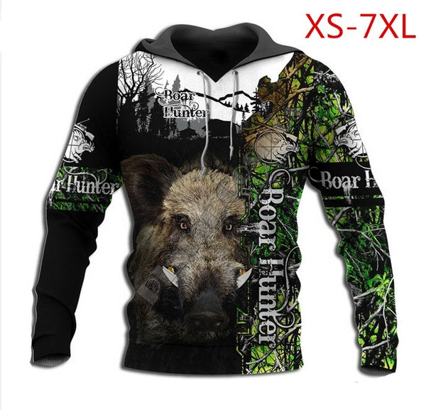 2020 Wild Boar hunting 3d all over Printed Unisex hoodies Harajuku Fashion Casual Hooded Sweatshirt  Y47