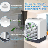 2020 Summer Portable USB Mini Air Conditioner Fan Humidifier Aromatherapy Diffuser Third Speed Desktop Cooling Fan for Home Office Room Indoor