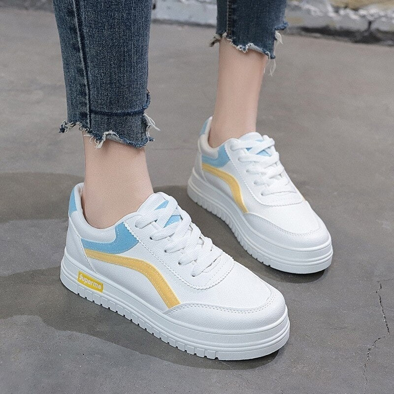 2020 Spring White Shoes Women's Korean-style Versatile STUDENT'S Shoes Running Casual Board Shoes 0321