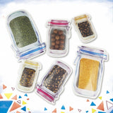 Reusable Mason Jar Bottles Bags Nuts Candy Cookies Bag Seal Fresh Food Storage Bag Snacks Sealed