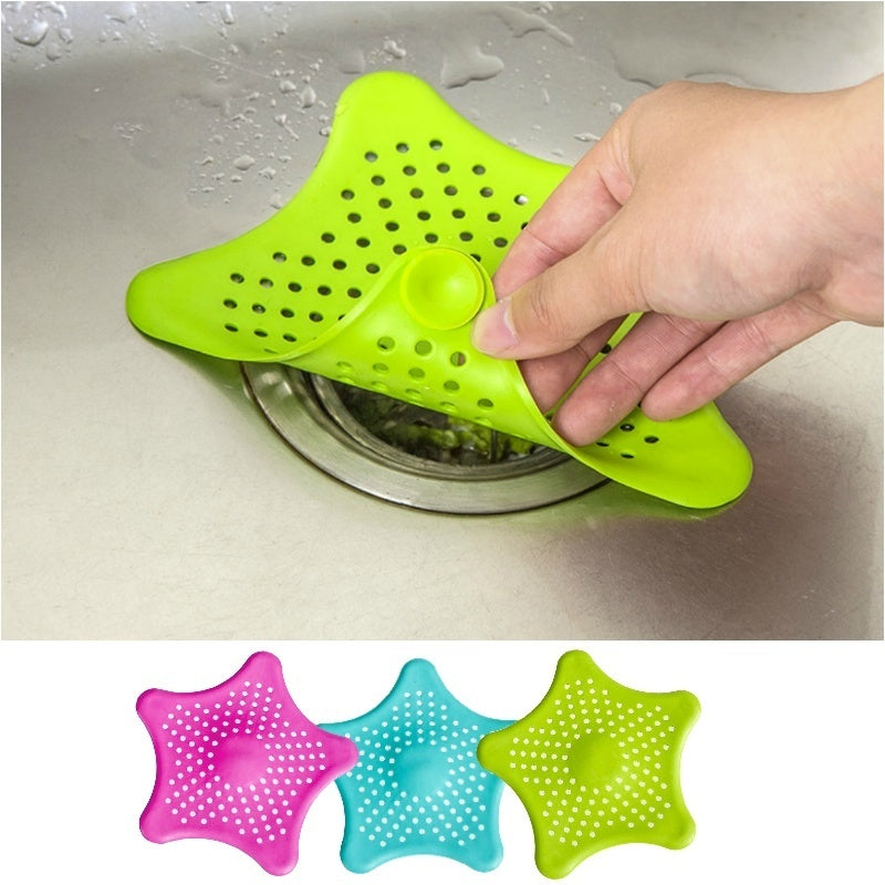 Kitchen Tool Bathroom Floor Drain Sink Strainer Set Food-Grade Silicone Kitchen Fruit Vegetable Folding Strainers