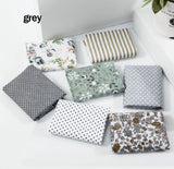 7Pcs/set Assorted Fabric Pre-Cut Square Bundle Cotton Floral Quilt Fabric Patchwork Tissues