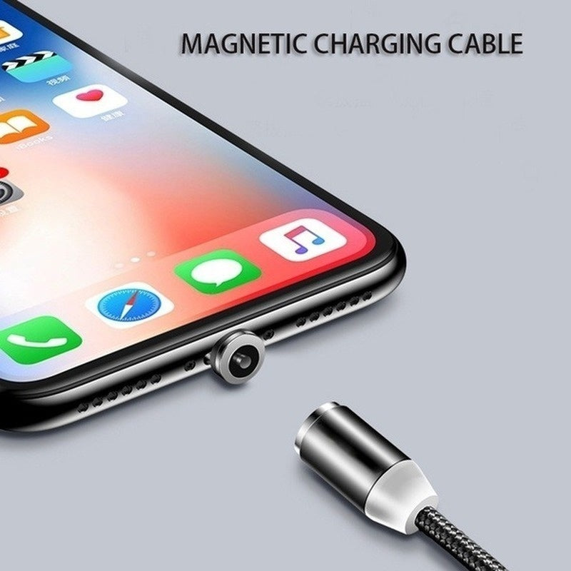 Magnetic Cable 2.4A Fast Charge Micro USB-C Cable Type C/IOS/Micro USB Magnetic Charger 1M Braided Iphone Cable