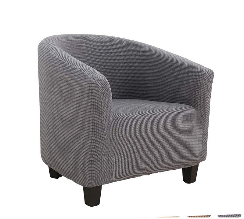 Elastic Tub Chair Armchair Cover Fabric Linen Sofa Armchair Seat Cover Washable Seat Slipcovers
