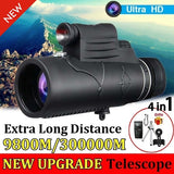 2021 New Upgrade High Quality Monocular 40x60 Powerful Binoculars Zoom Field Glasses Great Handheld Telescope Military HD Professional Hunting