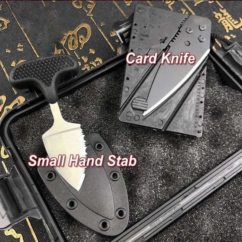 New Product Upgrades | Push Knife + Card Knife + Hand Stab Gifts Knives Set AUTO OTF Spring Assisted Tactical Knife Switchblade Outdoor Multitool Tanto Hunting Tools