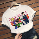 Hunterxhunter Series Gon and Killua Character Duo Anime Manga Crew Neck T-Shirt