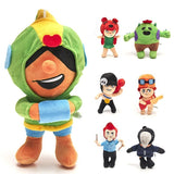 7 Style Brawl Stars Doll Creative Two-dimensional Anime Slick Slick Plush Dolls Stuffed Toys Christmas Gift
