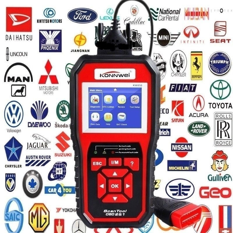 2020 Newest KONNWEI KW808 / KW850 OBDII EOBD OBDII/2 Auto Car Diagnostic Scanner Tool Code Reader Scanning machine