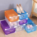 20PCS/10PCS Plastic Foldable Drawer Shoe Boxes Thicken Crate Storage Clear Stackable Shoes Case for Home Wardrobe