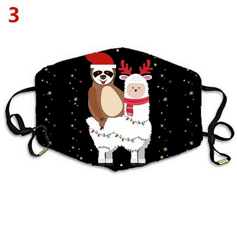 14 Styles Funny Print Cover Christmas Face Cover Dust Proof Windproof Cover Washable Unisex Cover