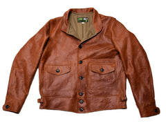 Excelsior Cossack Jacket sz 40 (1929) Mid Brown Italian Steerhide