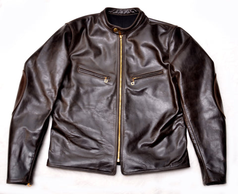Pinecrest Flattrack Racing Jacket (1966) Black Oak American Steerhide
