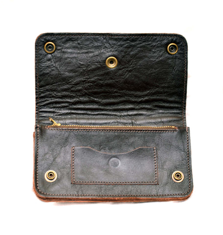 Truckers Wallet- Front Quarter Horsehide Cordovan Tanned