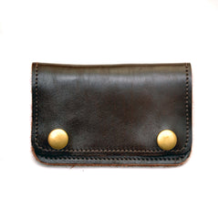 Compact Truckers Wallet- Front Quarter Horsehide Cordovan Tanned