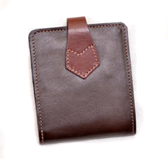 Double Bill Fold Wallet- Front Quarter Horsehide Cordovan Tanned