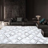 Gorgeous Gray Pattern Style Luxury Cowhide Skin Handmade Rug - TRUTAI