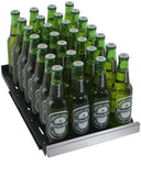 "Tru-Vino Stainless Steel Right Hinge 15"" Wide FlexCount II Beverage Center - TRUTAI"