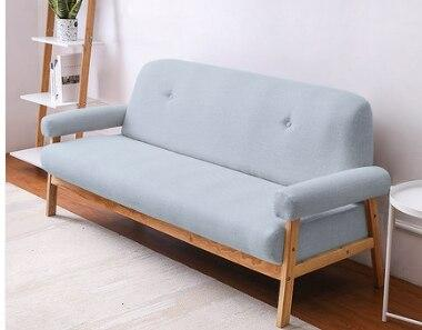 Solid Wood Small Living Room Sofa - TRUTAI