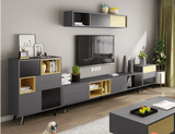 Luxury Retractable Tv Cabinet Combination (Coffee Table+Bucket & Side Cabinet) - TRUTAI