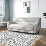 Three-Person Luxury Leather Small Sofa - TRUTAI