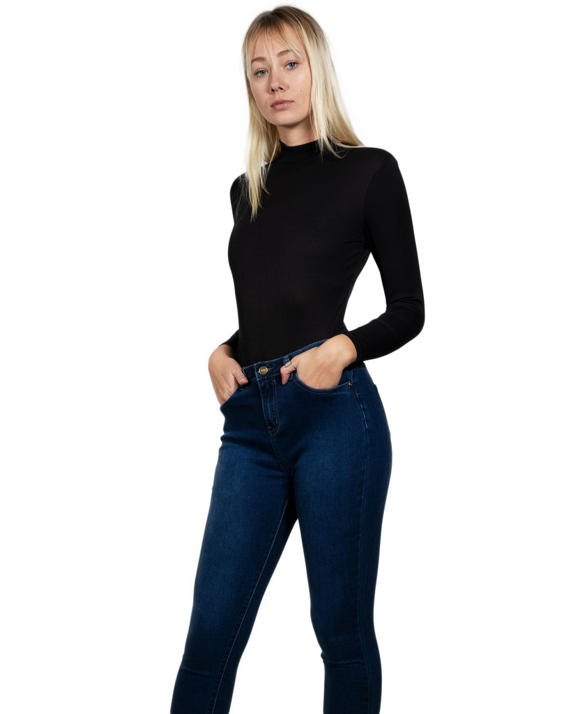 Beverly Zip-Up Ribbed Bodysuit - TRUTAI