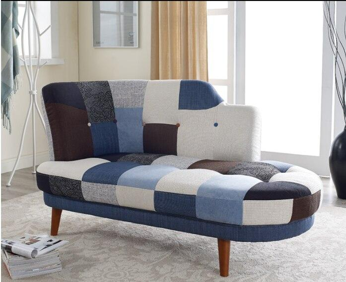 Small Living Room Patchwork Chaise Sofa - TRUTAI