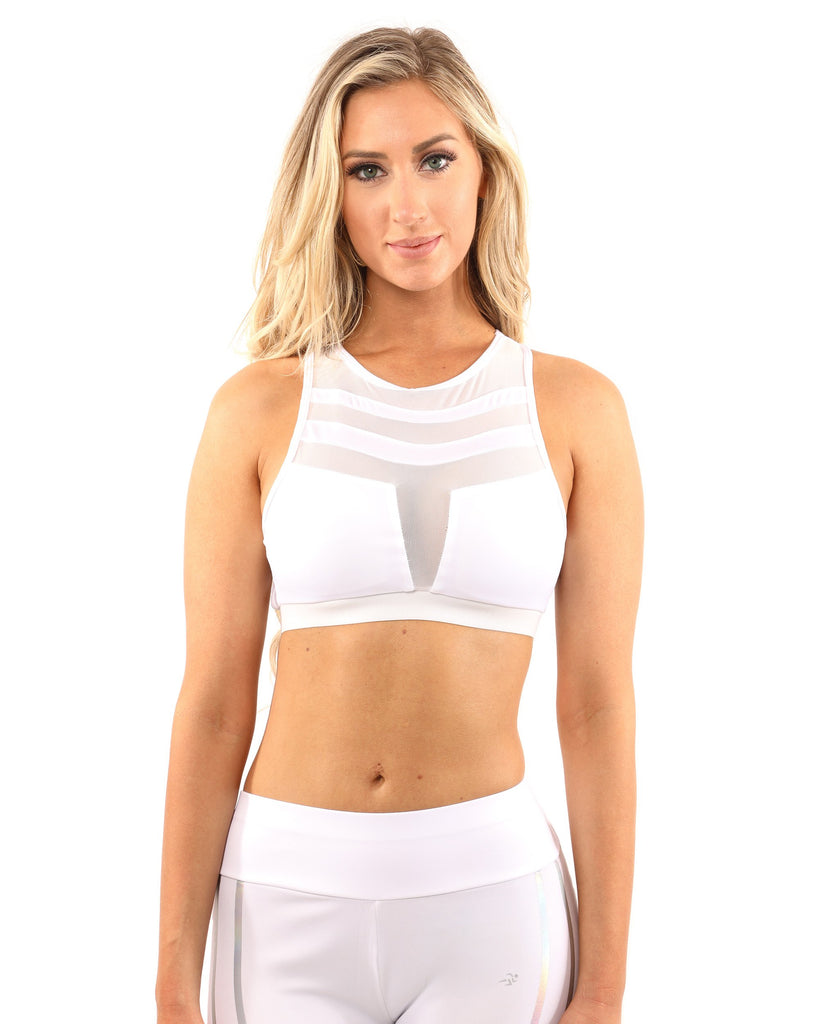 Laguna Sports Bra - White - TRUTAI