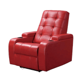 Red Theatre Leather Sofa Recliner Chair - TRUTAI