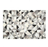 Gorgeous Gray Black and White Triangles Cowhide Rug - TRUTAI