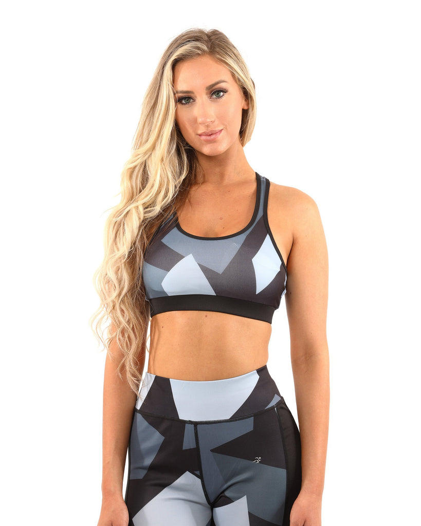 Bondi Sports Bra - Black/Grey - TRUTAI