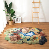 Earth's Brown Plants Nordic 3D Area Rug - TRUTAI