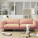 Japanese Simple Style Fabric Living Room Sofa - TRUTAI