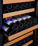 Tru-Vino 99 Bottle Dual Zone Black Right Hinge Wine Refrigerator - TRUTAI