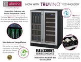 "Tru-Vino 24"" Wide Dual Zone Stainless Steel Wine Refrigerator - TRUTAI"