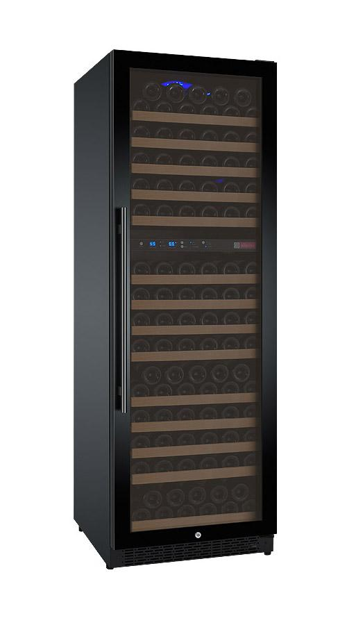 Tru-Vino 172 Bottle Dual Zone Black Right Hinge Wine Refrigerator - TRUTAI